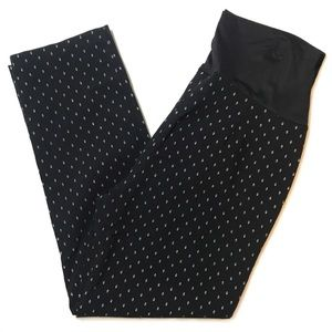Great Expectations Dot Stretchy Maternity Pants